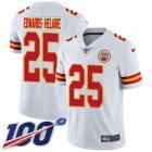 Cheap Nike Chiefs #25 Clyde Edwards-Helaire White Youth Stitched NFL 100th Season Vapor Untouchable Limited Jersey