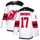 Cheap Adidas Devils #17 Wayne Simmonds White Road Authentic Stitched NHL Jersey