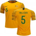 Cheap Australia #5 Milligan Home Soccer Country Jersey