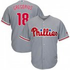 Cheap Phillies #18 Didi Gregorius Grey New Cool Base Stitched MLB Jersey