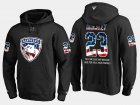 Cheap Panthers #23 Connor Brickley NHL Banner Wave Usa Flag Black Hoodie