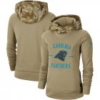 Cheap Women's Carolina Panthers Nike Khaki 2019 Salute to Service Therma Pullover Hoodie