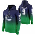 Cheap Vancouver Canucks #9 JT Miller Adidas Reverse Retro Pullover Hoodie Green