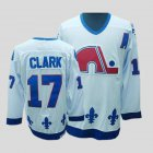 Cheap Nordiques #17 Wendel Clark Stitched CCM Throwback White NHL Jersey