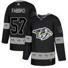 Cheap Adidas Predators #57 Dante Fabbro Black Authentic Team Logo Fashion Stitched NHL Jersey