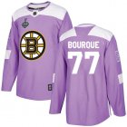 Cheap Adidas Bruins #77 Ray Bourque Purple Authentic Fights Cancer Stanley Cup Final Bound Youth Stitched NHL Jersey