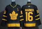 Cheap Adidas Maple Leafs #16 Mitchell Marner Black Authentic Gold Champions Stitched NHL Jersey