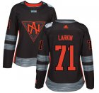 Cheap Team North America #71 Dylan Larkin Black 2016 World Cup Women's Stitched NHL Jersey