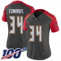 Cheap Nike Buccaneers #34 Mike Edwards Gray Women's Stitched NFL Limited Inverted Legend 100th Season Jersey