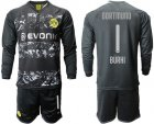 Cheap Dortmund #1 Burki Away Long Sleeves Soccer Club Jersey