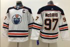 Cheap Adidas Oilers #97 Connor McDavid White Road Authentic Stitched Youth NHL Jersey