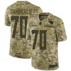 Cheap Nike Titans #70 Ty Sambrailo Camo Youth Stitched NFL Limited 2018 Salute To Service Jersey