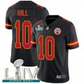 Cheap Nike Chiefs #10 Tyreek Hill Black Super Bowl LIV 2020 Men's Stitched NFL Limited Rush Jersey
