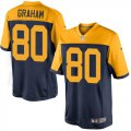 Cheap Nike Packers #80 Jimmy Graham Navy Blue Alternate Youth Stitched NFL New Limited Jersey