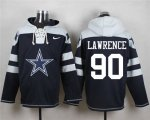 Cheap Nike Cowboys #90 Demarcus Lawrence Navy Blue Player Pullover NFL Hoodie