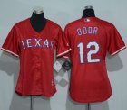 Cheap Rangers #12 Rougned Odor Red Women's Alternate Stitched MLB Jersey