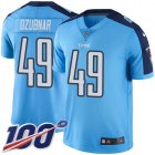 Cheap Nike Titans #49 Nick Dzubnar Light Blue Youth Stitched NFL Limited Rush 100th Season Jersey