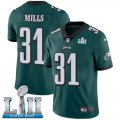 Cheap Nike Eagles #31 Jalen Mills Midnight Green Team Color Super Bowl LII Youth Stitched NFL Vapor Untouchable Limited Jersey