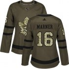 Cheap Adidas Maple Leafs #16 Mitchell Marner Green Salute to Service Women's Stitched NHL Jersey
