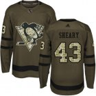 Cheap Adidas Penguins #43 Conor Sheary Green Salute to Service Stitched NHL Jersey
