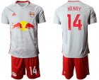 Cheap Red Bull #14 Henry White Home Soccer Club Jersey