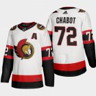 Cheap Ottawa Senators #72 Thomas Chabot Men's Adidas 2020-21 Authentic Player Away Stitched NHL Jersey White