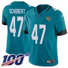 Cheap Nike Jaguars #47 Joe Schobert Teal Green Alternate Youth Stitched NFL 100th Season Vapor Untouchable Limited Jersey