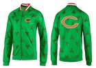 Cheap NFL Chicago Bears Team Logo Jacket Green