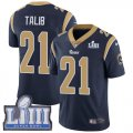 Cheap Nike Rams #21 Aqib Talib Navy Blue Team Color Super Bowl LIII Bound Men's Stitched NFL Vapor Untouchable Limited Jersey