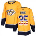 Cheap Adidas Predators #35 Pekka Rinne Yellow Home Authentic USA Flag Stitched Youth NHL Jersey