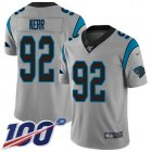 Cheap Nike Panthers #92 Zach Kerr Silver Men's Stitched NFL Limited Inverted Legend 100th Season Jersey