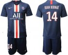 Cheap Paris Saint-Germain #14 Juan Bernat Home Soccer Club Jersey
