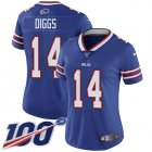 Cheap Nike Bills #14 Stefon Diggs Royal Blue Team Color Women's Stitched NFL 100th Season Vapor Untouchable Limited Jersey