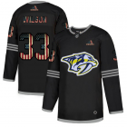 Cheap Nashville Predators #33 Viktor Arvidsson Adidas Men's Black USA Flag Limited NHL Jersey