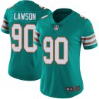 Cheap Nike Dolphins #90 Shaq Lawson Aqua Green Alternate Women's Stitched NFL Vapor Untouchable Limited Jersey