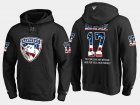 Cheap Panthers #17 Derek Mackenzie NHL Banner Wave Usa Flag Black Hoodie