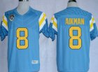 Cheap UCLA Bruins #8 Troy Aikman Light Blue Jersey