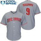 Cheap Reds #9 Mike Moustakas Grey New Cool Base Stitched MLB Jersey