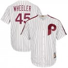 Cheap Philadelphia Phillies #45 Zack Wheeler Majestic Cooperstown Collection Cool Base Player Jersey White