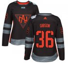 Cheap Team North America #36 John Gibson Black 2016 World Cup Women's Stitched NHL Jersey