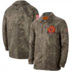 Cheap Men's Chicago Bears Nike Camo 2019 Salute to Service Sideline Full-Zip Lightweight Jacket