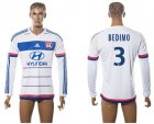 Cheap Lyon #3 Bedimo Home Long Sleeves Soccer Club Jersey