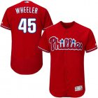 Cheap Phillies #45 Zack Wheeler Red Flexbase Authentic Collection Stitched MLB Jersey