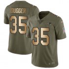 Cheap Nike Patriots #35 Kyle Dugger Olive/Gold Youth Stitched NFL Limited 2017 Salute To Service Jersey