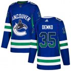 Cheap Adidas Canucks #35 Thatcher Demko Blue Home Authentic Drift Fashion Stitched NHL Jersey