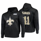 Cheap New Orleans Saints #41 Alvin Kamara Nike NFL 100 Primary Logo Circuit Name & Number Pullover Hoodie Black