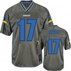 Cheap Nike Chargers #17 Philip Rivers Grey Men's Stitched NFL Elite Vapor Jersey