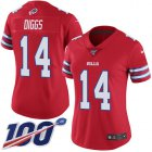 Cheap Nike Bills #14 Stefon Diggs Red Women's Stitched NFL Limited Rush 100th Season Jersey