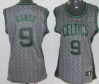 Cheap Boston Celtics #9 Rajon Rondo Gray Static Fashion Womens Jersey