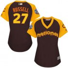 Cheap Cubs #27 Addison Russell Brown 2016 All-Star National League Women's Stitched MLB Jersey